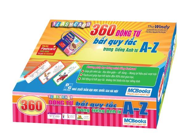 Flashcard 360 động từ bất quy tắc trong tiếng anh từ A đến Z - Công ty sách  MCBooks