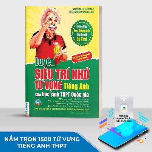 Sách Luyện siêu trí nhớ từ vựng tiếng Anh dành cho học sinh THPT quốc gia