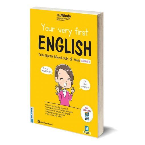 Your very First English Volume 1 bìa trước 3d