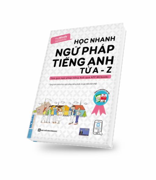 Bìa sách 3D học nhanh ngữ pháp tiếng Anh từ a-z