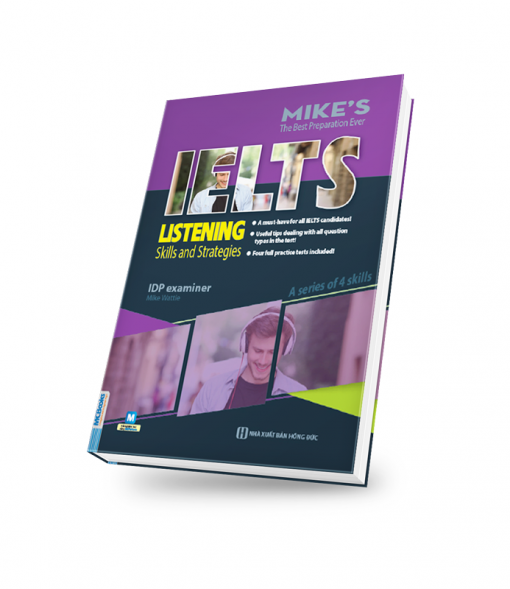 bìa sách 3D ielts listening mike