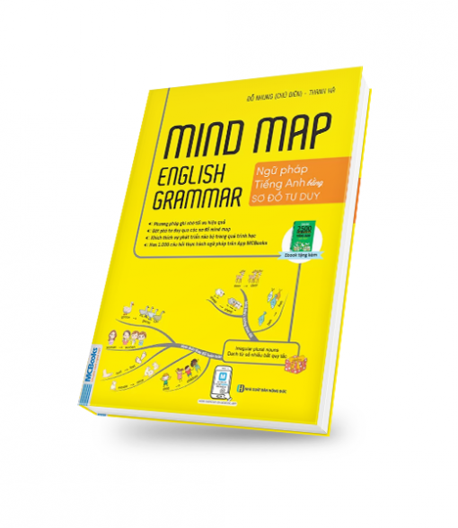 bìa sách 3D- mind map english grammar