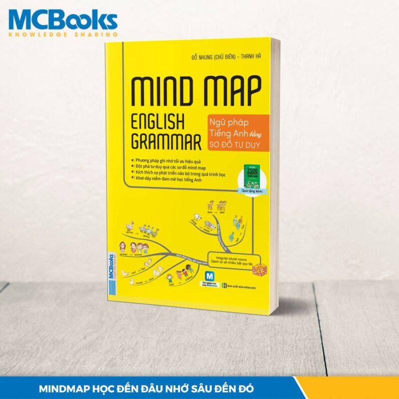 Cuốn sách Mindmap English Grammar - Ngữ pháp tiếng Anh bằng sơ đồ tư duy