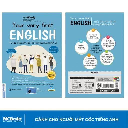 Sách Your very first English – Tự học tiếng anh cấp tốc cho người không biết gì