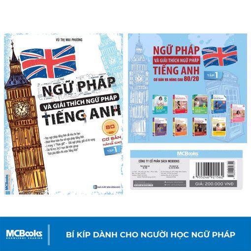 Sách Ngữ pháp và giải thích ngữ pháp tiếng Anh cơ bản và nâng cao 80/20 tập 1