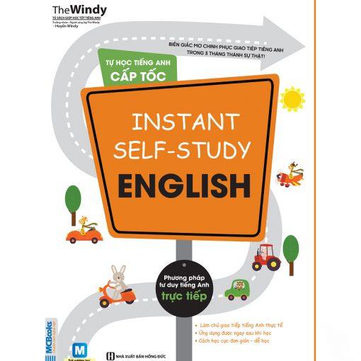 Tự học tiếng Anh cấp tốc Instant self-study English bìa trước 2d