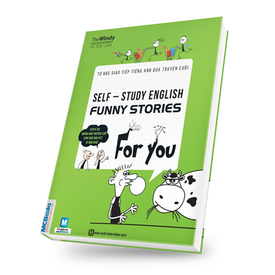 Tự học giao tiếp tiếng Anh qua truyện cười bìa trước 3d