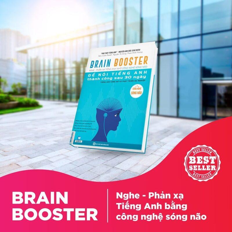 Cuốn sách Brain Booster: Nghe phản xạ tiếng Anh nhờ công nghệ sóng não