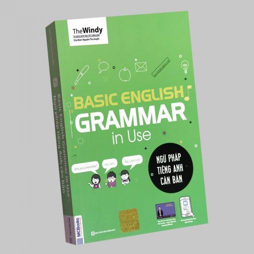 Ngữ pháp tiếng Anh căn bản bìa xanh bìa trước 3d