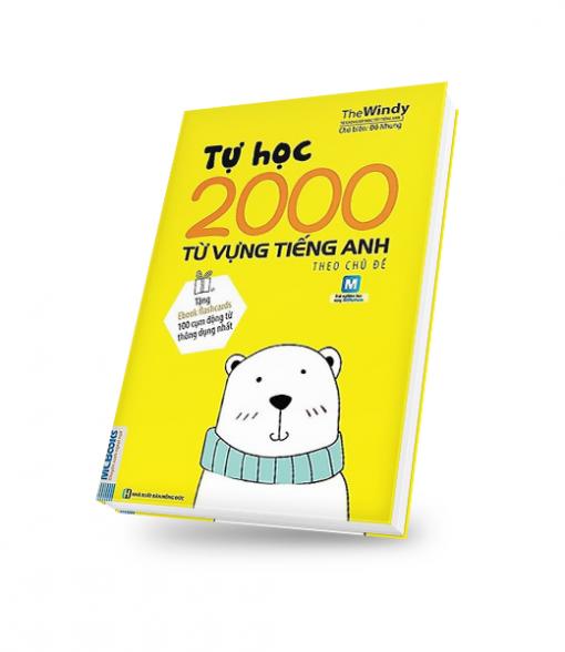 bìa sách 3D tự học 2000 từ vựng tiếng anh theo chủ đề