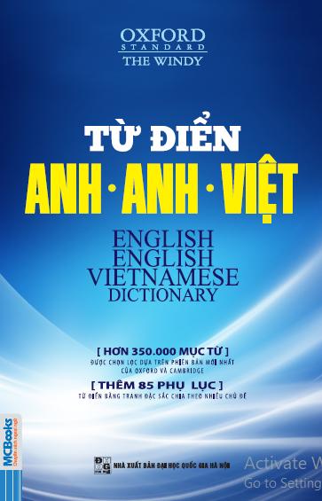 Từ điển Anh - Việt (bìa trước)