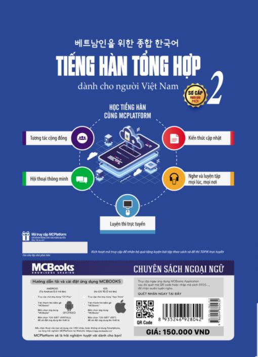 Tiếng Hàn tổng hợp dành cho người Việt Nam - sơ cấp 2 - bản đen trắng