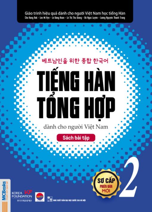 Giáo trình tiếng Hàn tổng hợp dành cho người Việt Nam – Sách bài tập sơ cấp 2