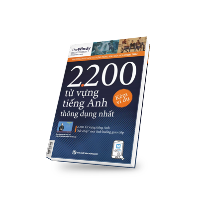 2200 Từ vựng tiếng Anh thông dụng nhất bìa trước 3d