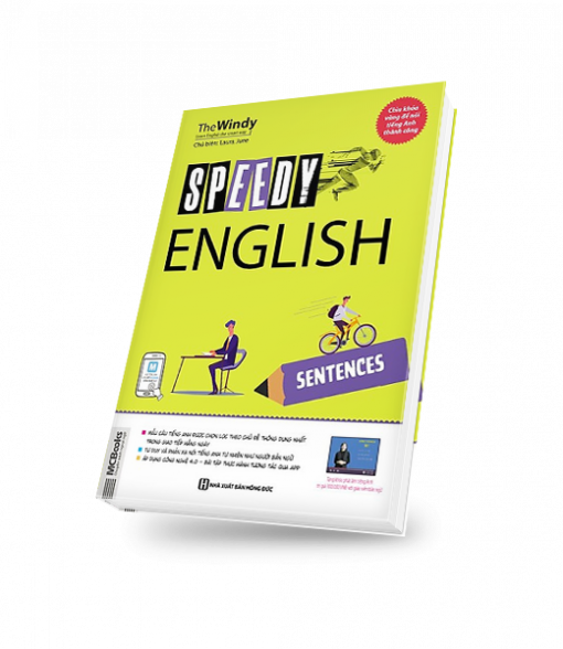 SPEEDY ENGLISH – SENTENCES bìa trước 3d