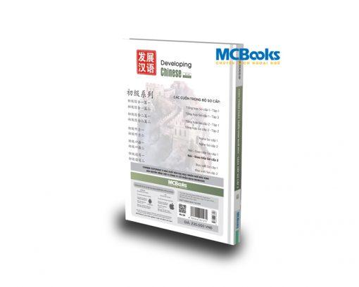 Mcbooks Giáo trình Phát triển Hán ngữ Nói - Giao tiếp Sơ cấp 2 bìa sau
