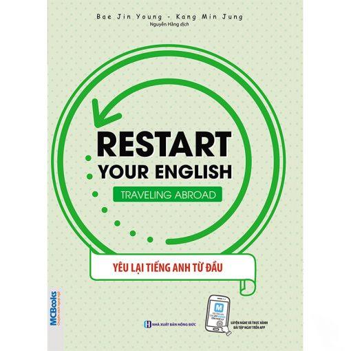 RESTART YOUR ENGLISH – TRAVELING ABROAD bìa trước 2d