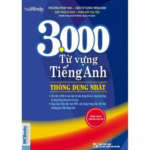 3000 từ vựng tiếng Anh thông dụng nhất bìa 2d