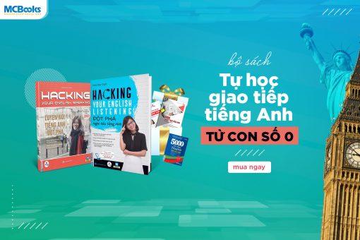 Tặng sách và Freeship khi mua bộ Hacking Your English
