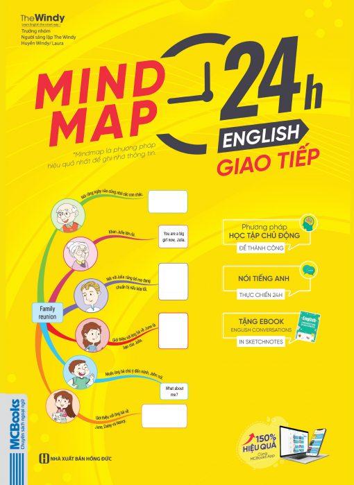 Bìa trước cuốn sách Mindmap 24H English - Giao tiếp